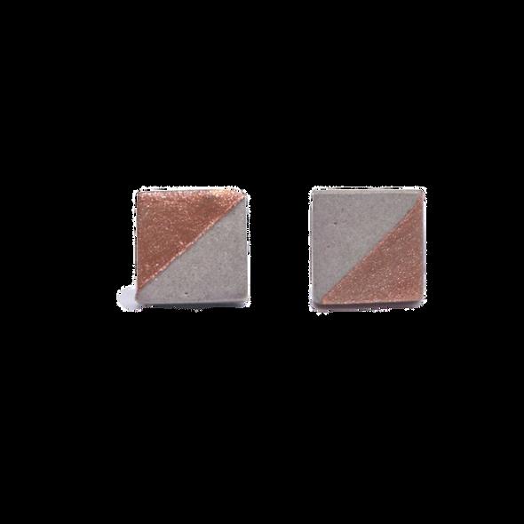 Handmade Copper & Concrete Earrings