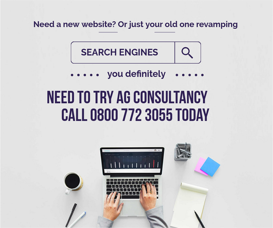 Need a New Website? Or a Revamp? Get in touch today 0800 772 3055 to discuss details.