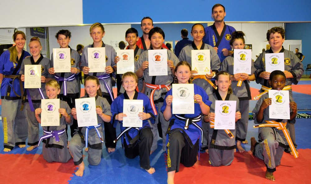 10 - 14 Year Olds Passing their Martial Art Grading