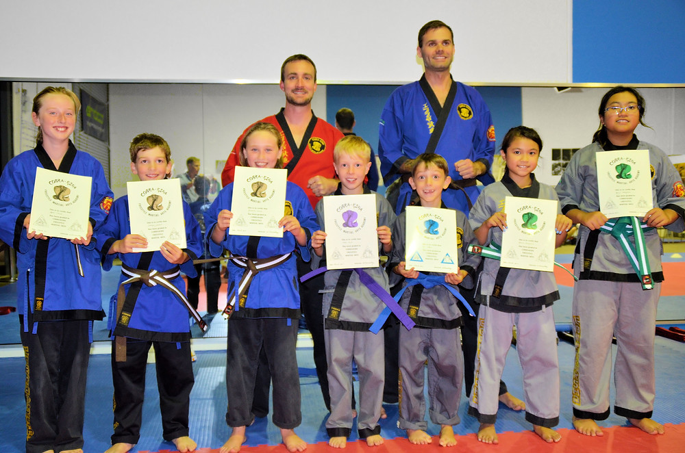 6 - 9 year Old Advanced Martial Arts Students