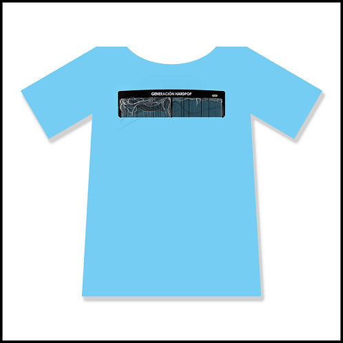 Camiseta azul -peinamos canas