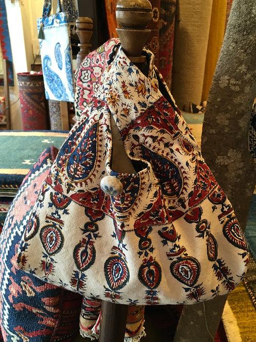 ペルシャ更紗のマルシェバッグ red1