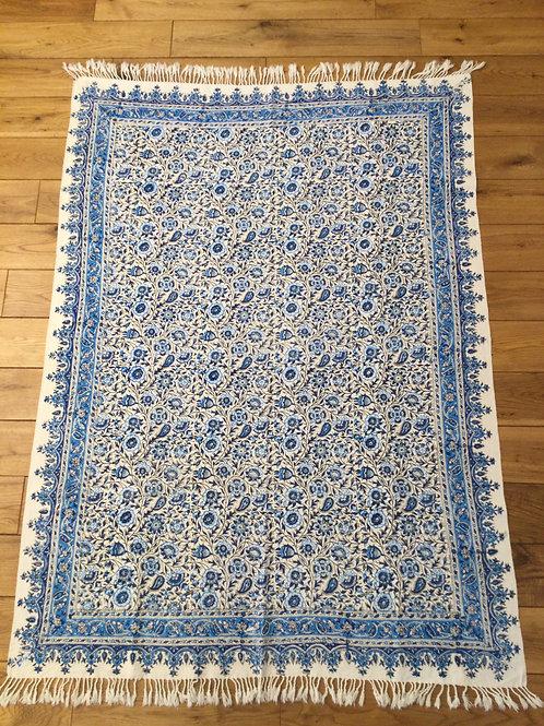 ペルシャ更紗長方形100×150㎝青3