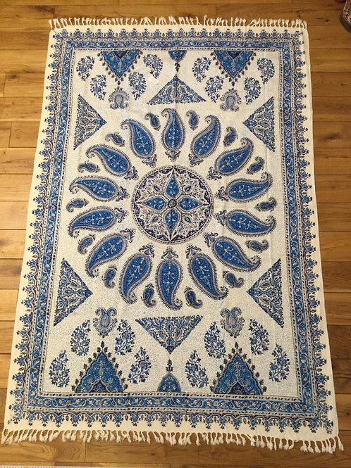 ペルシャ更紗長方形120×180㎝青1