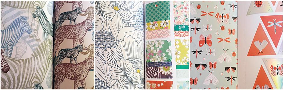 Différents motifs de papier pour loisirs créatifs
