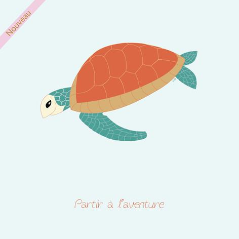 La tortue de mer pleine de vie
