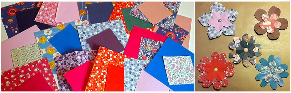 Origamis fleurs papier jolis motifs loisirs créatifs