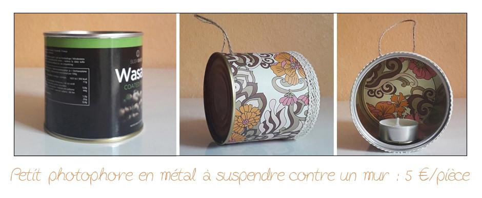 """Création en vente : Photophore en métal """"60'S"""""""