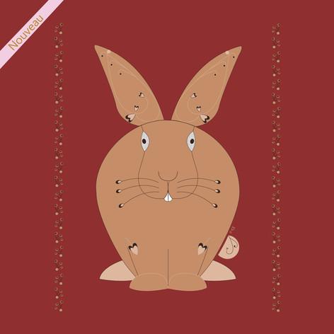 Le beau lapin brun