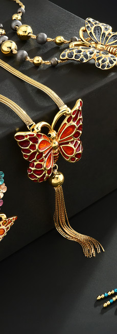 Innova Jewellery Electroform Butterfly Necklaces