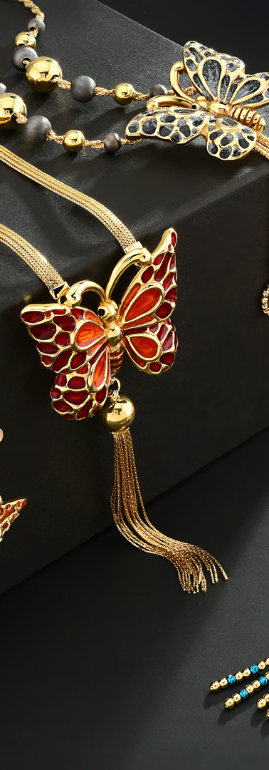 Innova Jewellery Electroform Butterfly Necklaces