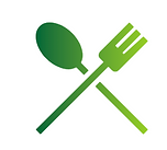 An image of a fork and spoon to show there are nearby eateries for our glamping and picnic services.