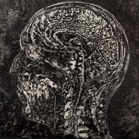 NORMAN'S MRI v6, Pigment on Panel, 24 x 24 inches