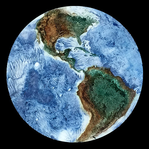 Earth: Approximation   (24 x 24 inches)