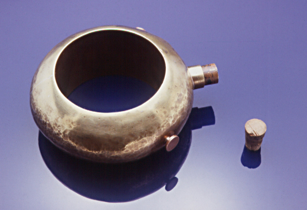 Hollow Brass Flask Bracelet