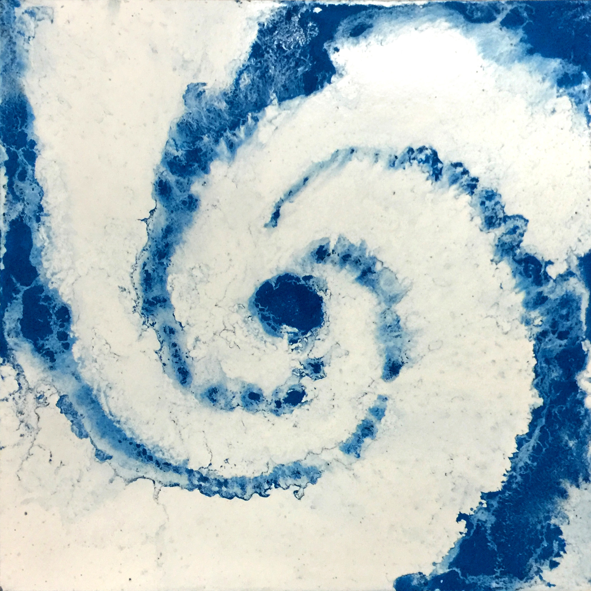 Vortex #1, Pigment on Panel, 24 x 24 inches