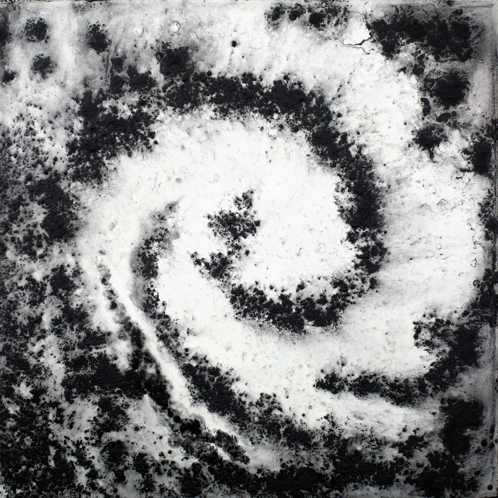 Vortex #3, Pigment on Panel, 24 x 24 inches