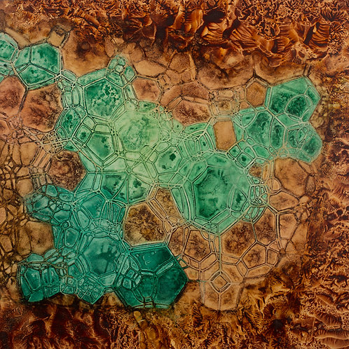Crystalline Verde Ochre Matrix