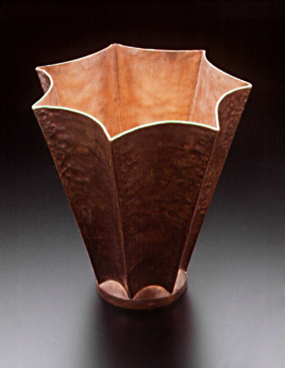 Fluted Copper Cup