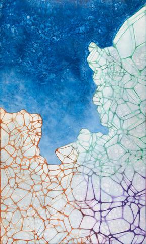 Crystalline Crevasse, Pigment on Panel, 48 x 96 inches