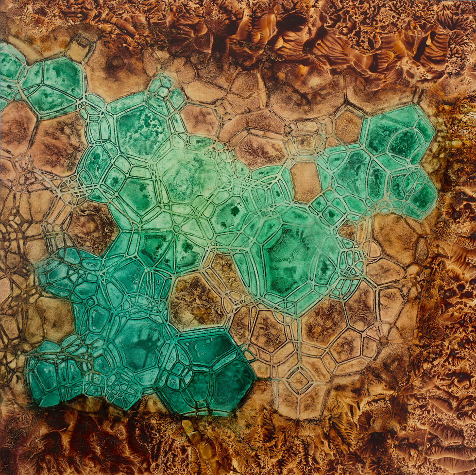 Crystalline #3, Pigment on Panel, 24 x 24 inches