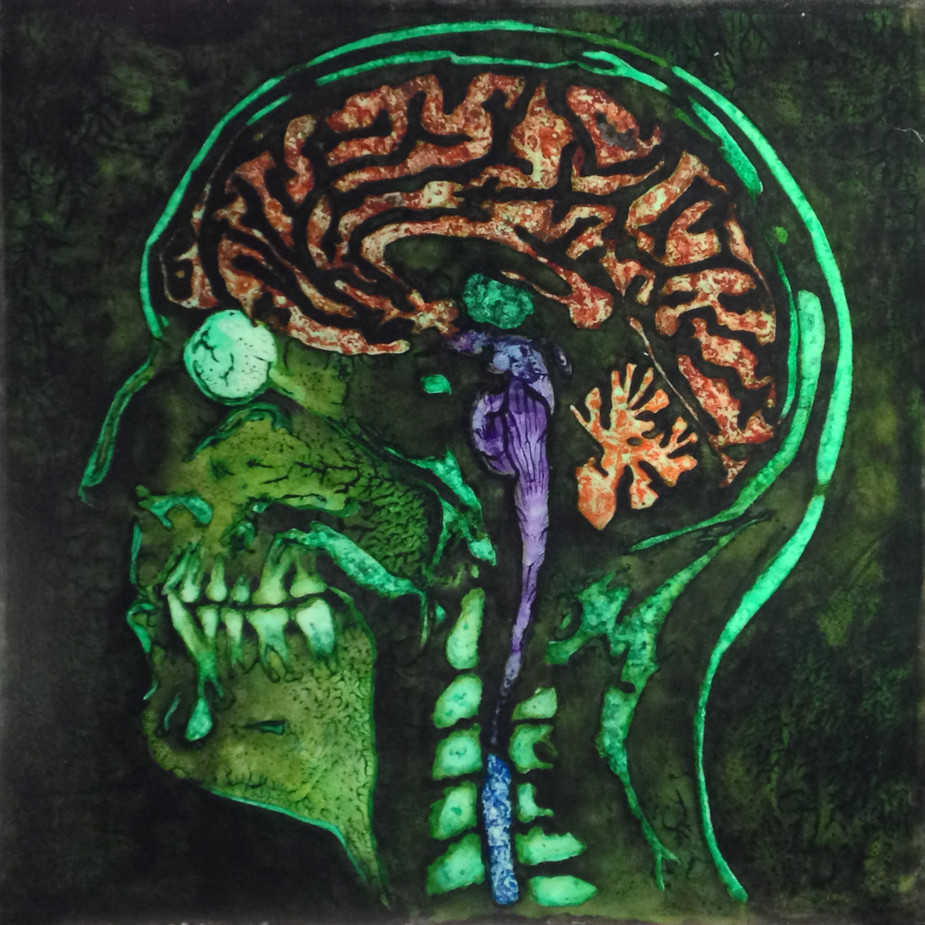 NORMAN'S MRI v7, Pigment on Acrylic, 30 x 36 inches