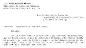Solicitud de copia de expediente de personal Corporativo y de Área de Trabajo