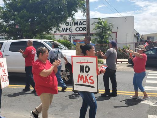 Sindicatos respaldan trabajadores en huelga de Cadillac Uniform en Bayamón