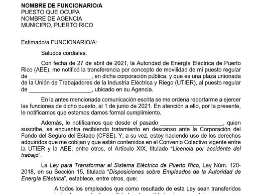 Apelación carta movilidad unionados que estén con licencia de accidentes