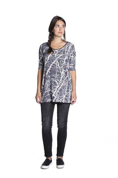 NIKITA [ニキータ] WOMENS / BRISTLE DRESS / BRANCH TEE / BLACK NEST PRINT