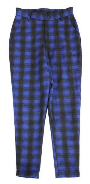 THE TEST[ザテスト] チェックサルエルパンツ SARROUEL PANTS (BLUE CHECK)
