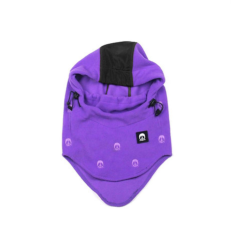 GNARLY ナーリー Face Mask Hood Purple フードウォーマー 帽子 バラクラバ スノーボード