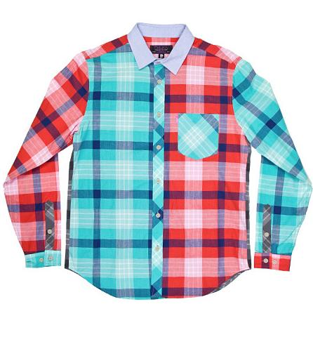 Mishka [ミシカ]Patchwork L/S Shirt -Multi-