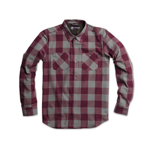 Primitive Apparel[プリミティブ]HERRINGBONE BUFFALO FLANNEL / BURGUNDY
