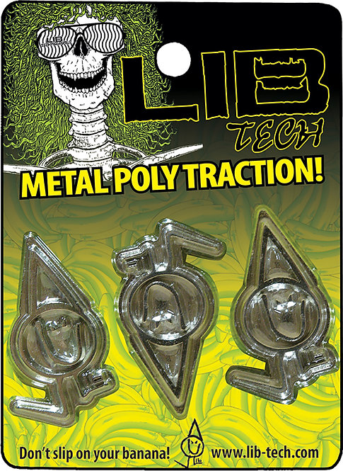 LIB-TECH [ リブテック ] METAL POLY TRACTION / SILVER ストンプパッド 滑止め
