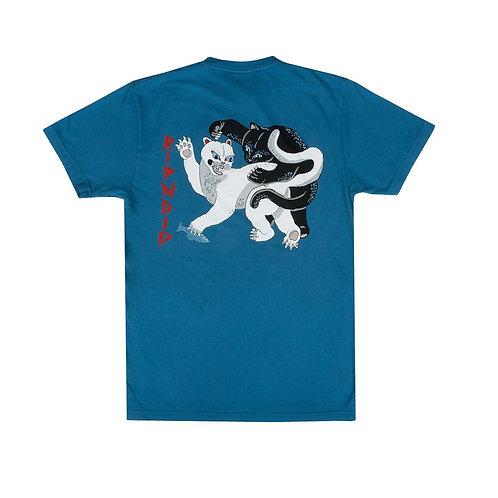 RIPNDIP リップンディップ Brawl Tee (Harbor Blue) Tシャツ