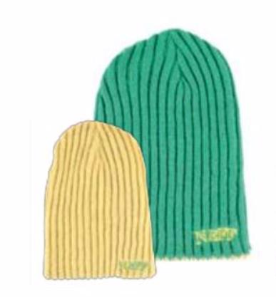 NEFF [ネフ] REZI-FLIP BEANIE / GREEN&YELLOW ビーニー 帽子 ニット