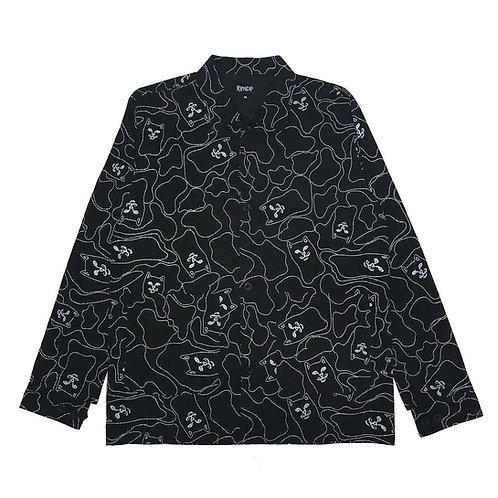 RIPNDIP リップンディップ Nermal Line Camo Military Jacket (Black 3M) ジャケット リフレクター プリント