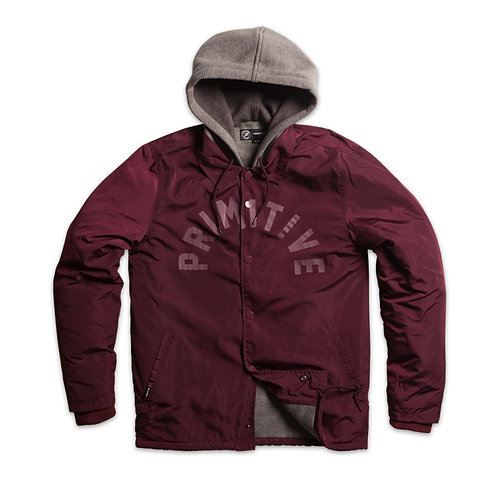 Primitive Apparel[プリミティブ] TWO-FER COACH JACKET コーチジャケット BURGUNDY