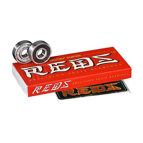 BONES BEARINGS [ ボーンズ ベアリング] Super REDS Bearings(8pack) スケートボード スケボー sk8 skatebo
