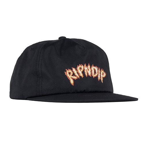 RIPNDIP リップンディップ INFERNO SNAPBACK  BLACK キャップ 帽子