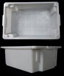 BANDEJA O CAJON TUKAPEL estibable y montable. Para frigorificos, carnicerias y lugares con con camaras de frio. Ideal para estibar pesos. Fabrica de envases Plásticos Montevido. Bidones botellas PET Y PEAD. FABRICA DE ENVASES PLASTICOS