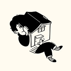 家と本に関するオリジナル作品
