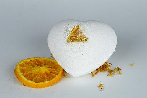Cinnamon & Orange Giant Heart Bath Bomb