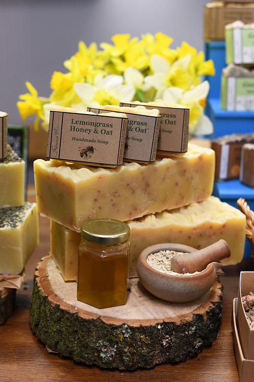 Lemongrass, Honey & Oat Soap