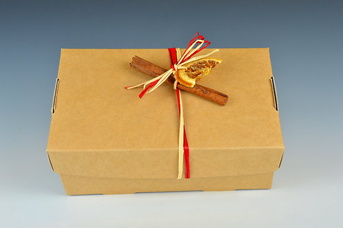 Small lidded gift box- with festive decoration