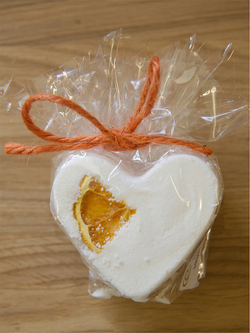 Cinnamon & Orange Heart Bath Bomb