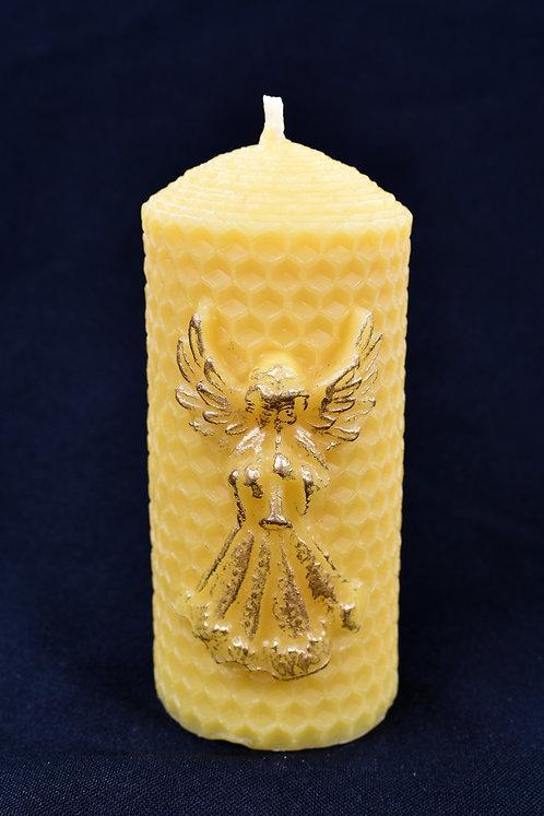 Honeycomb Angel Beeswax Candle
