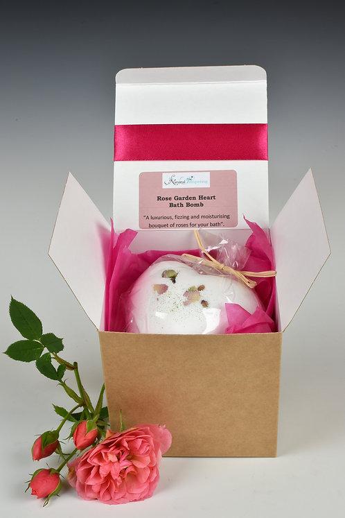 Rose Garden Giant Heart Bath Bomb- Gift Boxed