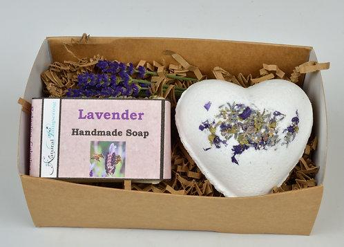 Lavender Gift Box - Soap + Bath Bomb